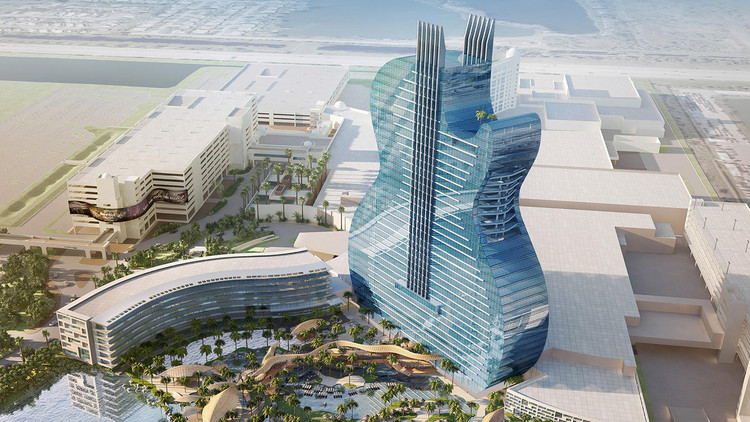 Florida's Forthcoming Hard Rock Hotel is Shaped Like a Giant Guitar, Courtesy of Seminole Tribe of Florida
