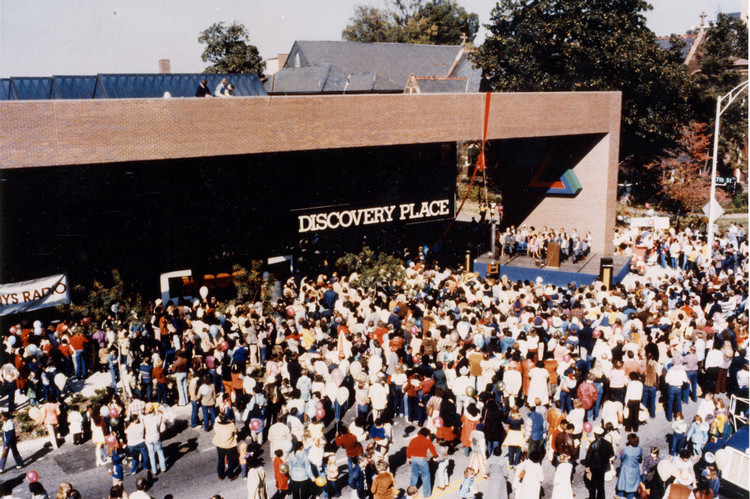 Diller Scofidio + Renfro to Create Planning Vision for Charlotte Science Center , Discovery Place Science Center, Grand Opening Day 1981. Image Courtesy of Discovery Place