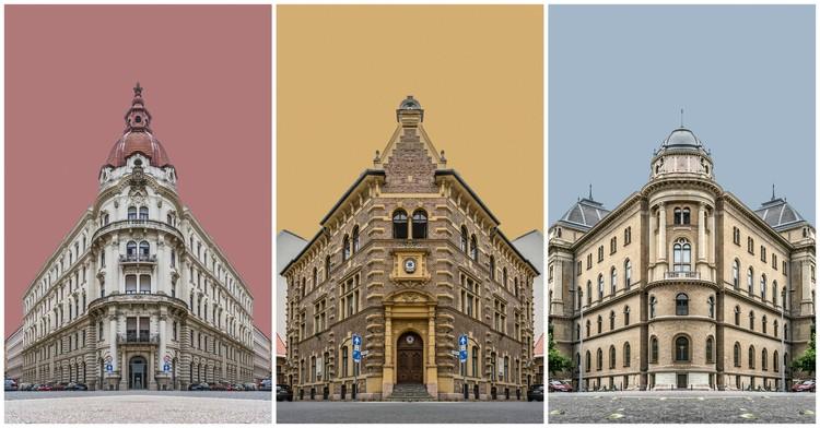 Série fotográfica cria falsas simetrias na arquitetura de Budapeste, © Zsolt Hlinka