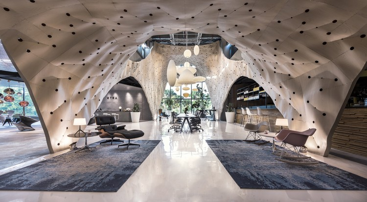 "PRODUCE Workshop's ""Fabricwood"" Named World's Best Interior of 2017, Overall & Display Winner: Fabricwood; Singapore / PRODUCE Workshop. Image Courtesy of World Architecture Festival"