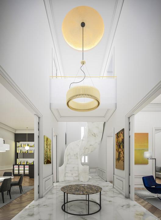 Conoce Villa Enfilade, proyecto ganador para la rehabilitación de un antiguo palacete en Madrid, Hall. Rehabilitación de un palacete en Madrid. Image Cortesía de Idoia Otegui / i! arquitectura