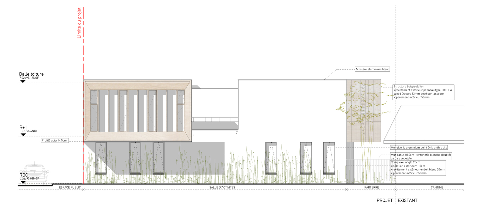 Extension of a primary schoolsouth elevation