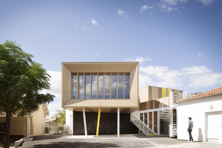 Extensión de una escuela primaria / Thomas Landemaine Architectes, © Marie-Caroline Lucat