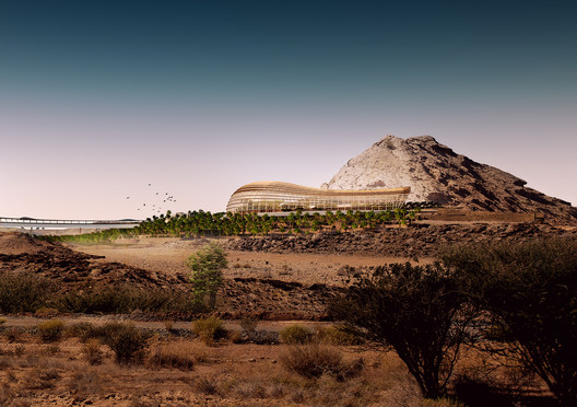 Exterior view of Northern Habitat Biome. Image via ©Arup/Grimshaw