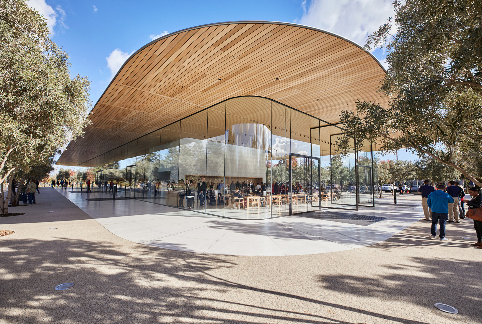 Foster Partner S Apple Park Visitor S Center Opens To