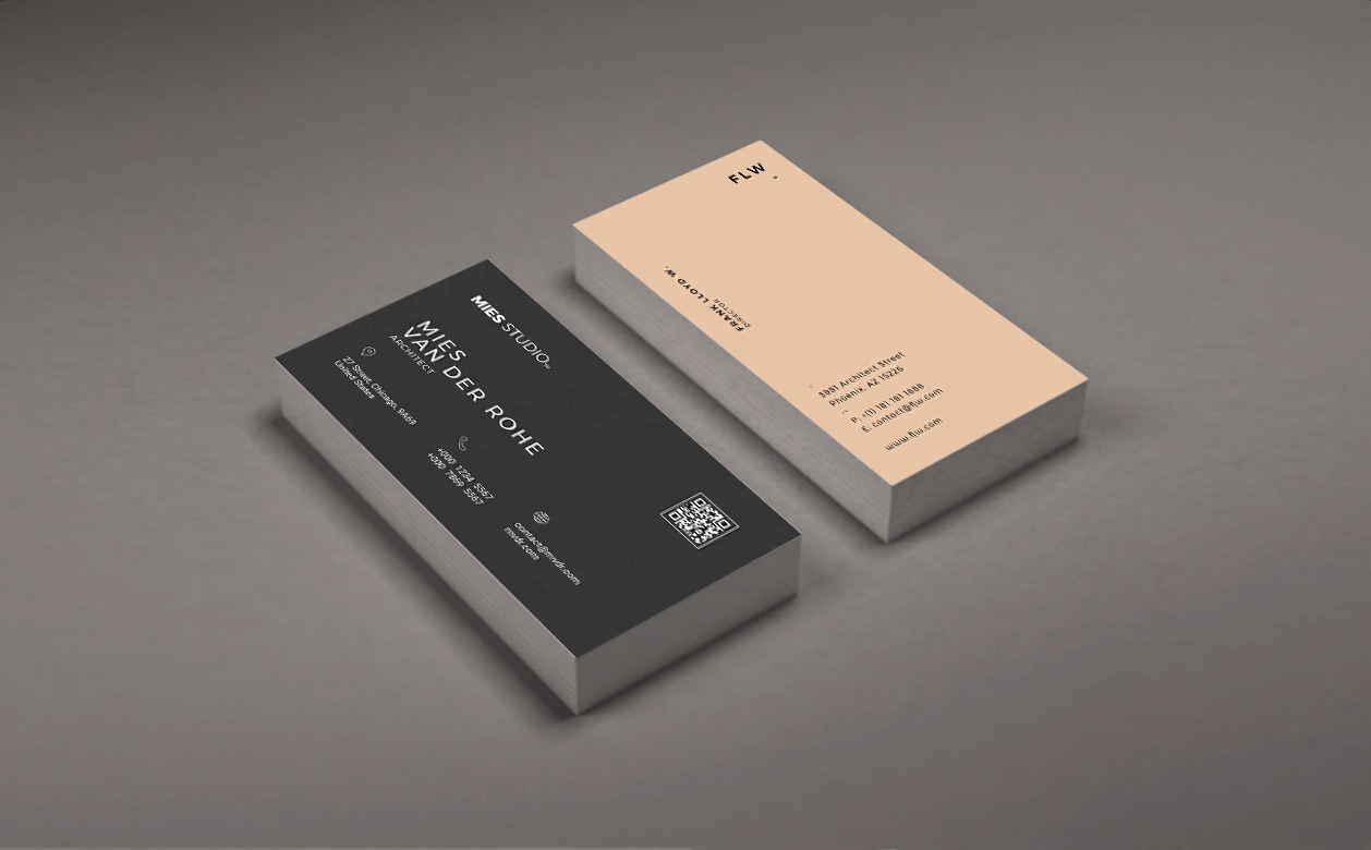 Gallery Of Free Business Card Templates For Architects 1