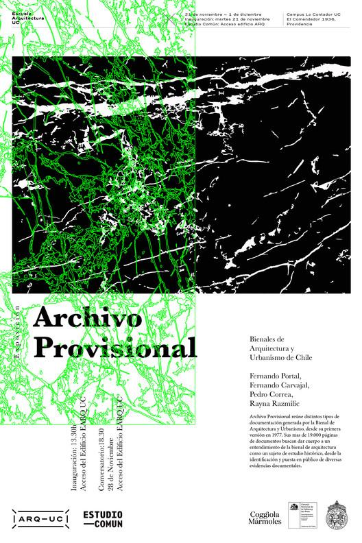 Exhibición de 'Archivo Provisional' en Lo Contador, Arquitectura UC | Archivo Provisional