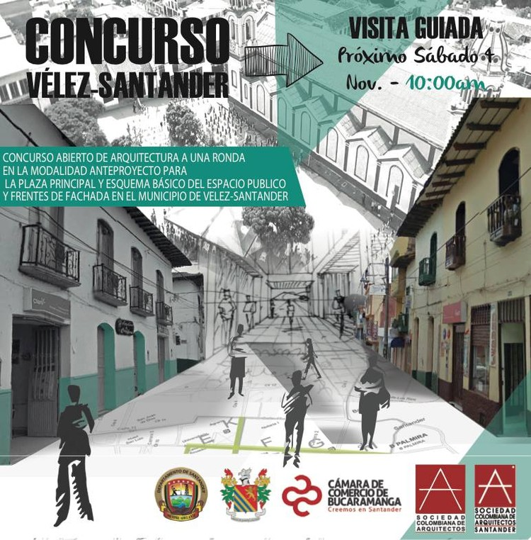 Concurso abierto de anteproyecto para la plaza principal y espacio público en Vélez, Santander