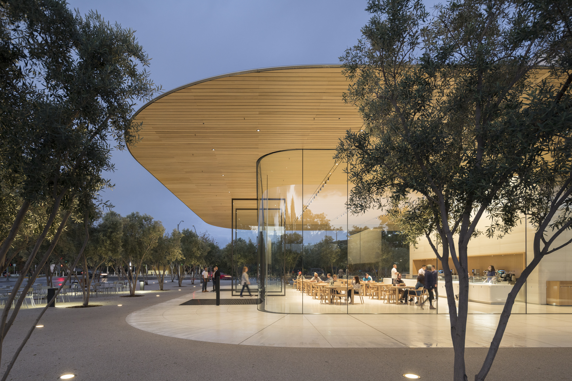 Apple Park Visitor Center Foster Partners Archdaily