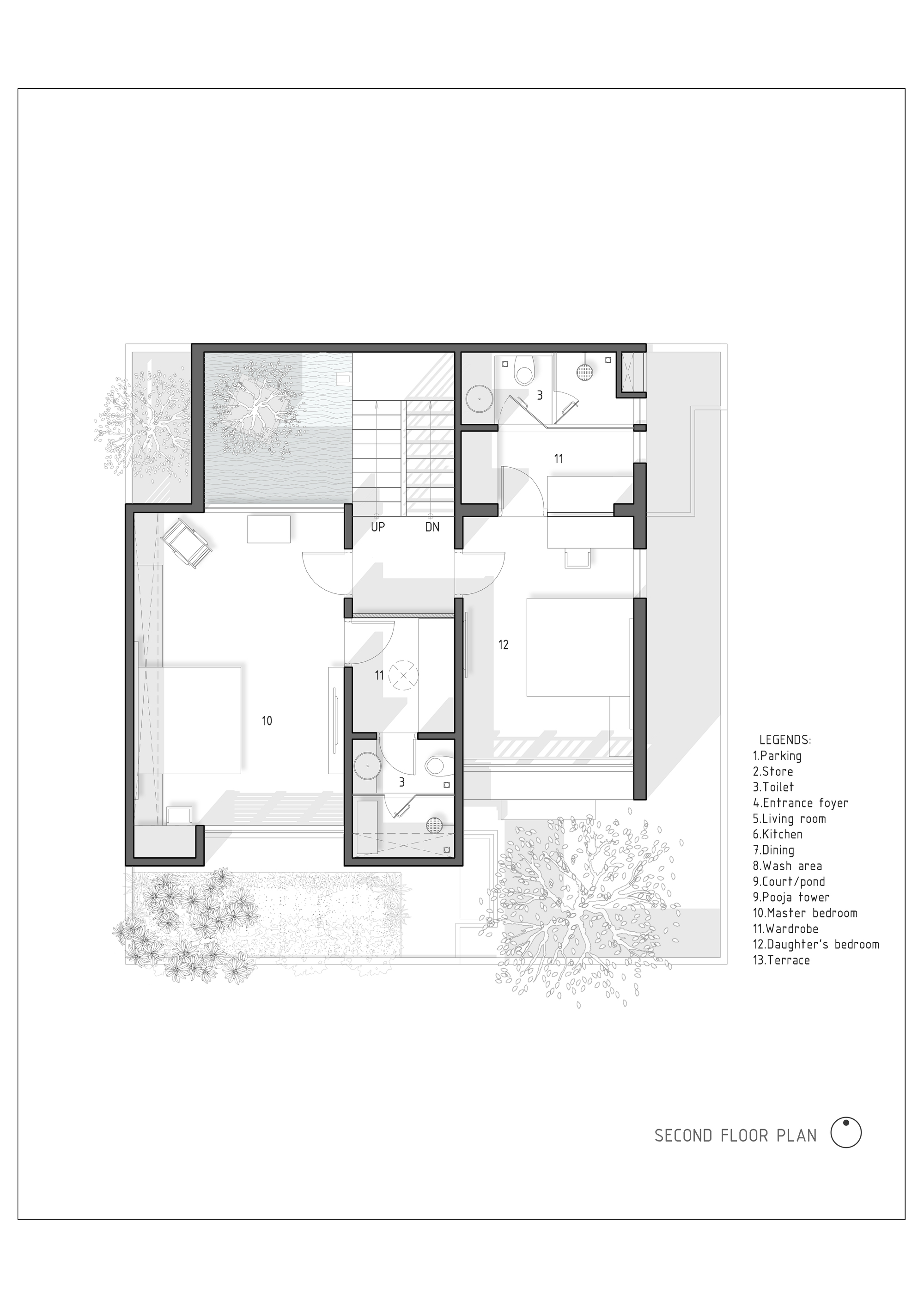 Gallery of the h cube house studio lagom 24 for Cube house design layout plan