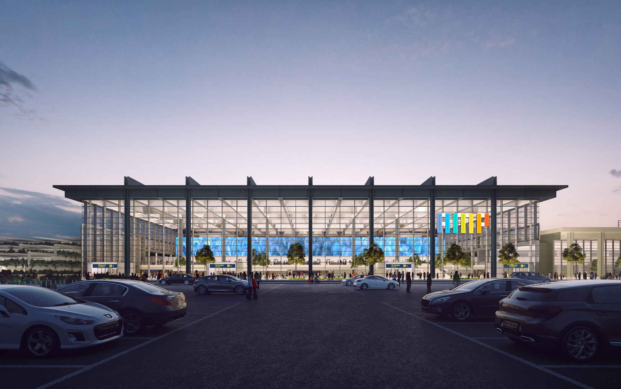 Foster + Partners Selected To Design Marseille Airport Extension, Courtesy  Of Foster + Partners