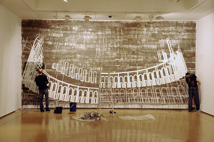 Jaime Franco devela la estructura detrás de toda obra en sus pinturas en barro, Cortesía de Jaime Franco