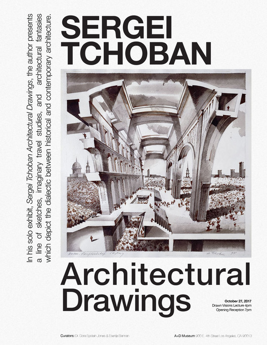 Exhibition: Sergei Tchoban Architectural Drawings, ©SergeiTchoban
