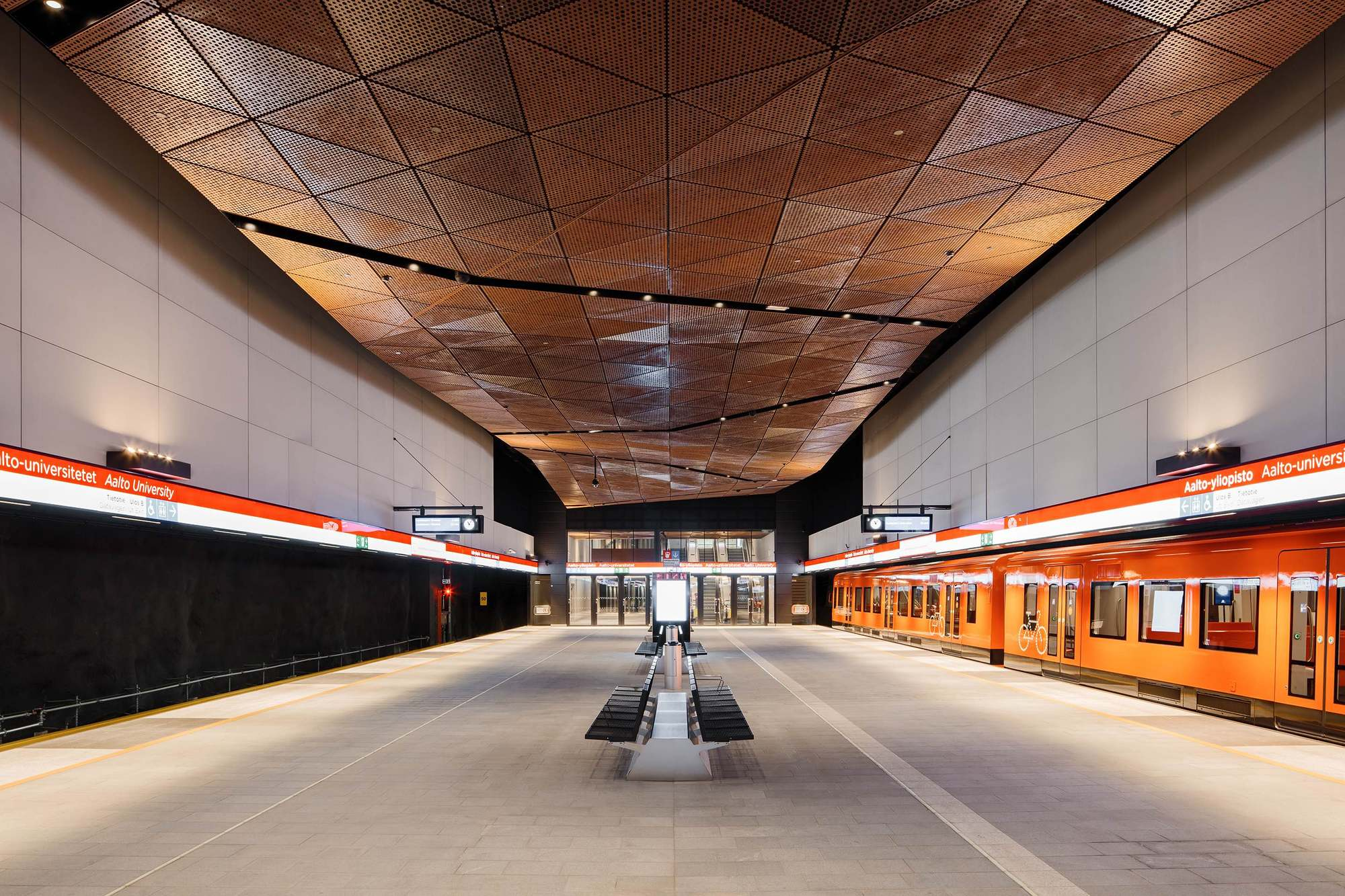 Aalto university metro station ala architects esa piironen architects archdaily for Metropolitan school of interior design