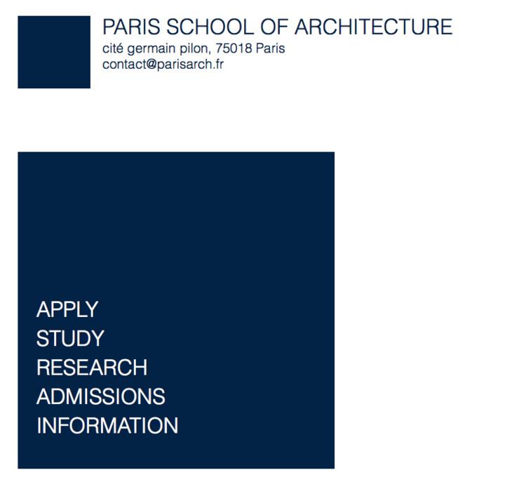 Paris School of Architecture Scholarship