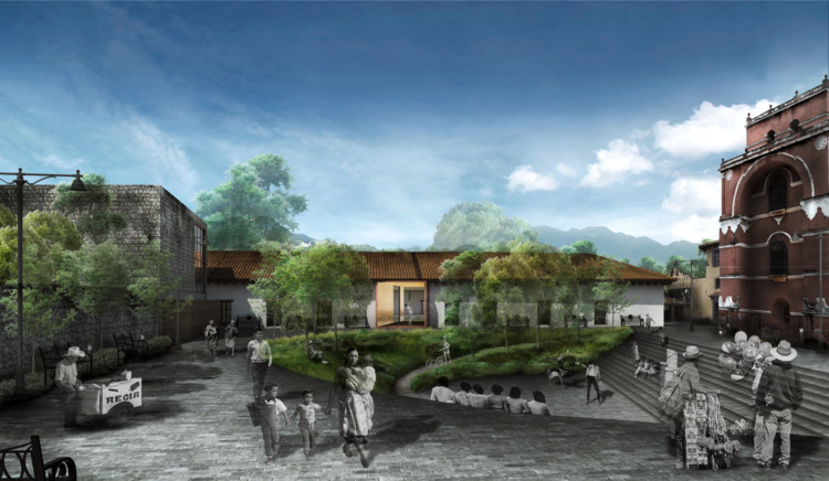 Estos son los proyectos ganadores del concurso 'Revitalización del Espacio Público' en San Cristóbal de Las Casas, Chiapas, Primer lugar. Image Cortesía de Arqmosfera