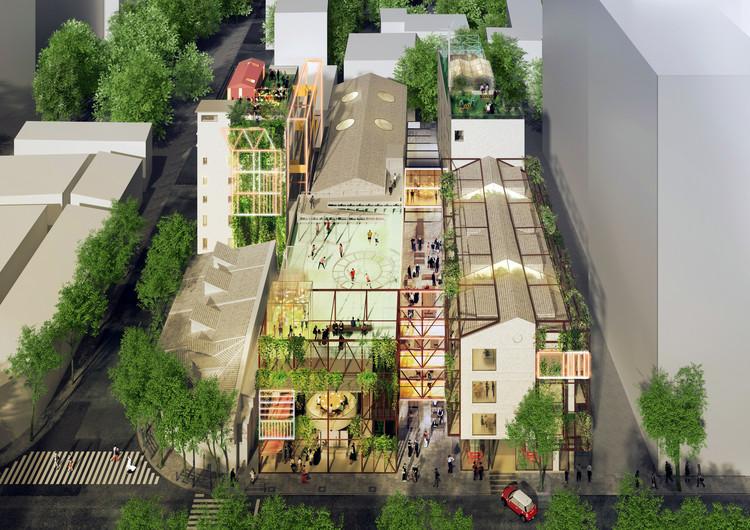 Projeto da MINI LIVING transformará antiga fábrica em edifício residencial de uso misto na China, Renders por Luxigon. Cortesia de MINI LIVING