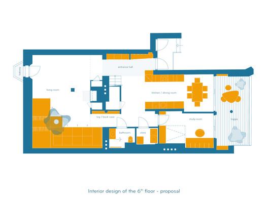Propuesta diseño interior 6to piso
