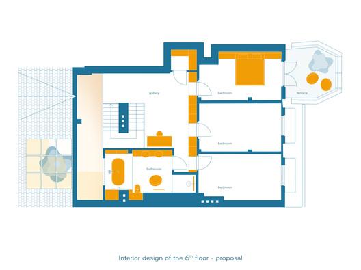 Propuesta diseño interior 7mo piso