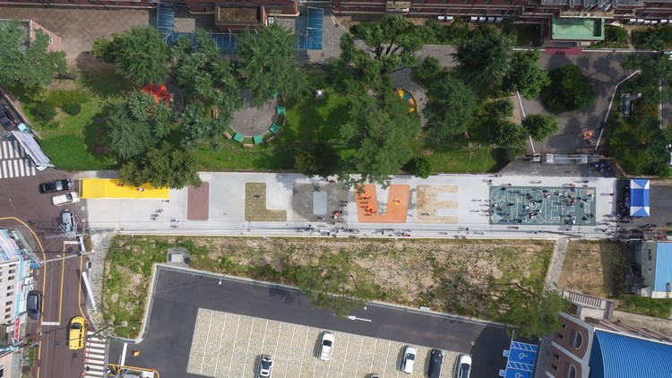 MVRDV crea instalación urbana junto a niños para el Festival Gwangju Folly, © Gwangju Biennale Foundation