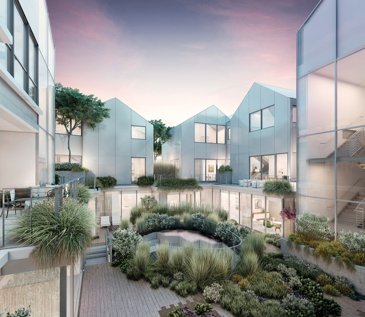 New Renderings Reveal Interiors of MAD Architects' Beverly Hills Residential Village, Courtesy of Palisades