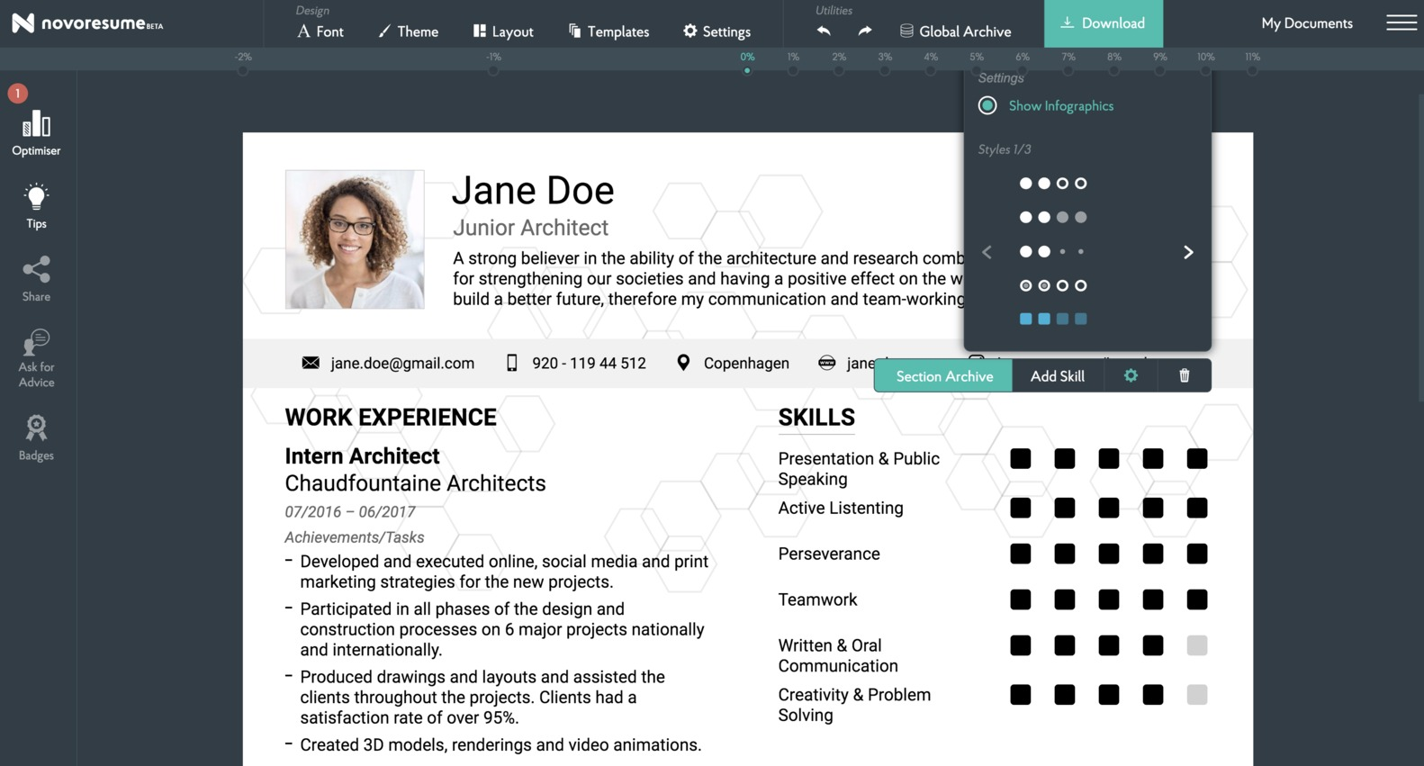 Gallery Of Novoresume Offers 50 Off Their Premium Resume Builder