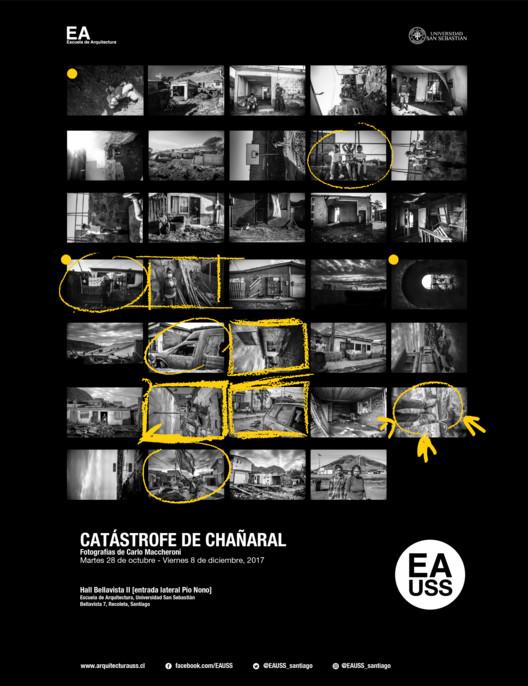 Exhibición 'Catástrofe de Chañaral', Escuela de Arquitectura, Universidad San Sebastián [EA USS]