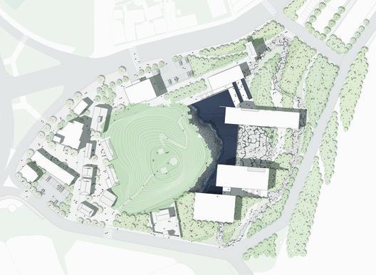 Site Plan. Image Courtesy of Simplex Architecture