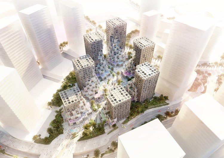 MVRDV Unveils Pixelated Mixed-Use Community Around BIG-Designed Plaza in Abu Dhabi, Courtesy of MVRDV