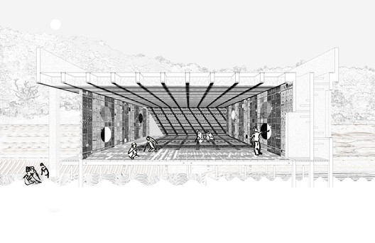 Silver Medal: 'Cycles of Toolmaking: An Optic, Tactile, Haptic, Material, Scalar and Pedagogic Study' / Daniel Hall. Image Courtesy of RIBA