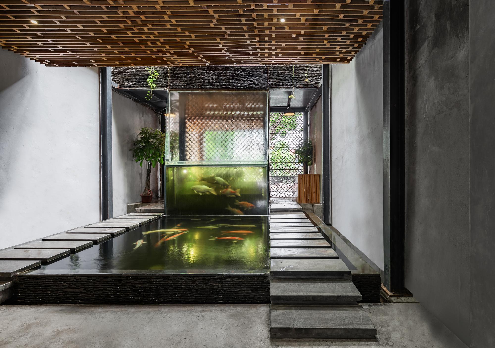 Gallery of koi cafe farming architects 3 for Garden pool hanoi