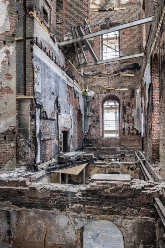 Looking up through the fire damaged building at Clandon Park, Surrey ©National Trust Images, Andreas von Einsiedel