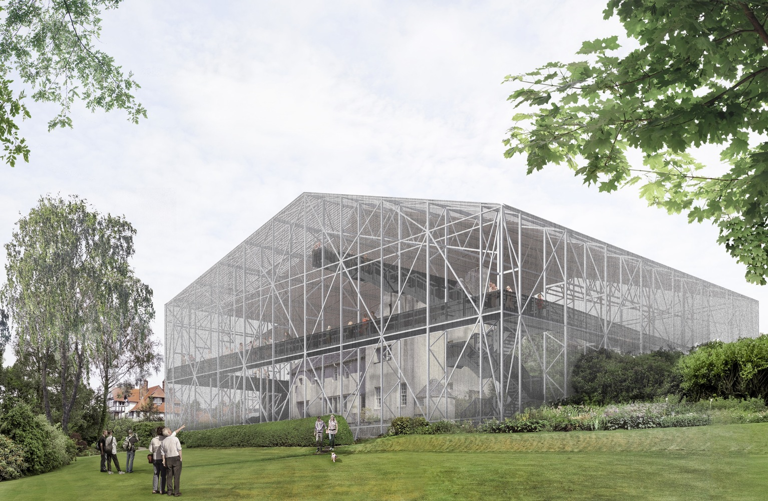 gallery of carmody groarke s transparent pavilion will allow for the