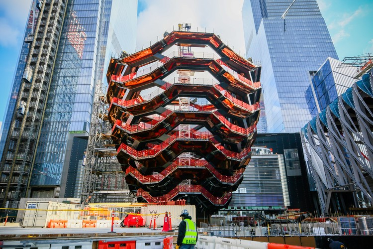 Heatherwick's Copper 'Vessel' Tops Out at New York's Hudson Yards, Courtesy of Related-Oxford