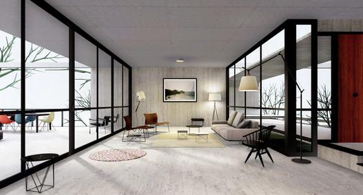 Living room. Image Courtesy of Archilogic