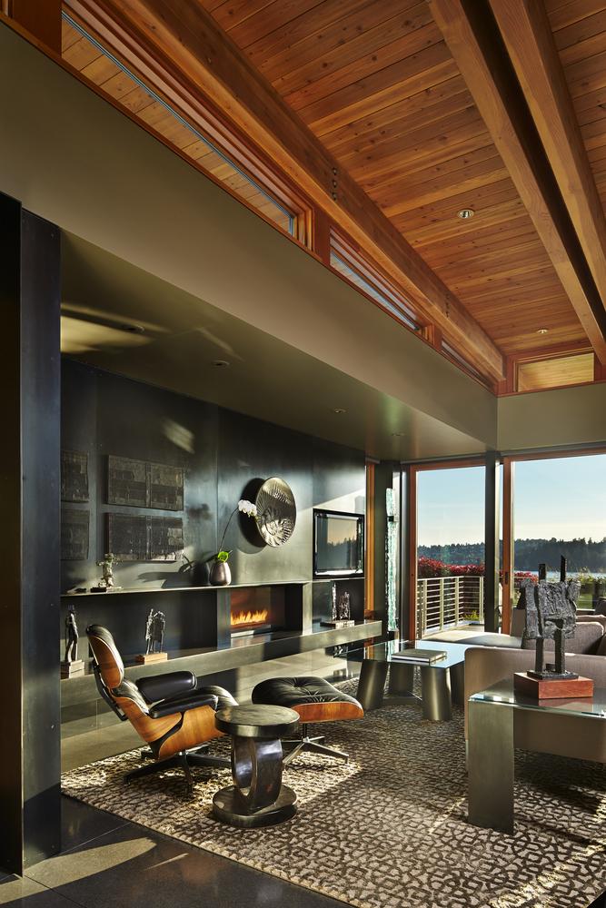 Casa de Madera, costa oeste de EEUU - sala de estar