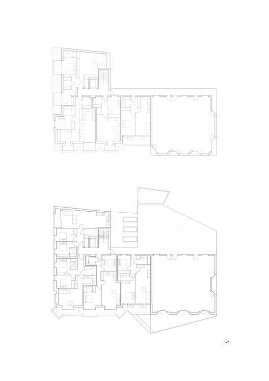 Block A / First and Second Floor Plans