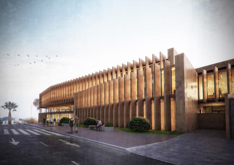 Rafael Landete y José Manuel Escobedo presenta diseño de nuevo comisaría del Cuerpo Nacional de Policía en Benidorm, España, Cortesía de JAS Arquitectura