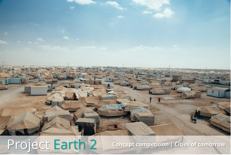 Convocatorias de ideas: Cities of Tomorrow, Zaatari refugee camp. Jared J kohler