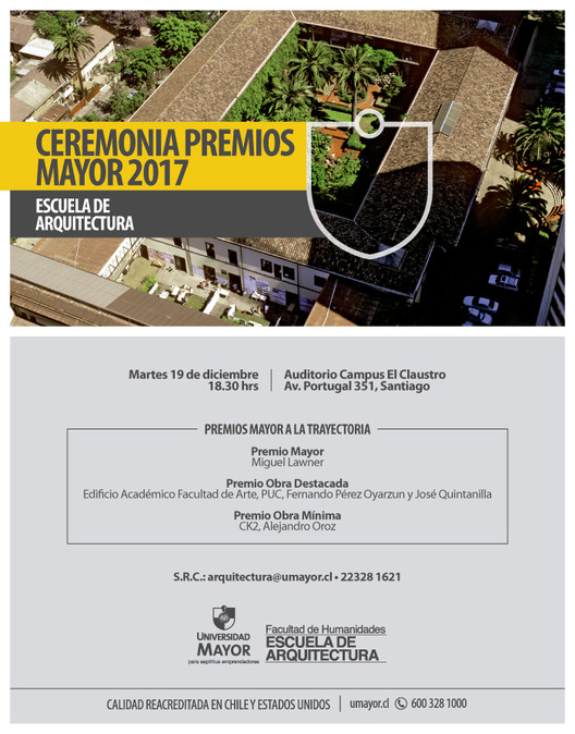 Ceremonia de Premios Mayor 2017, Dirección de comunicación académica UM