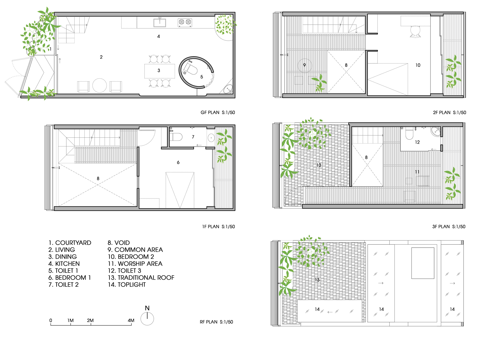 house   Time Architects  26   29  Floor Plans. Gallery of    house   Time Architects   26
