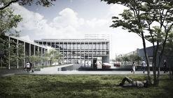Albert Tidy Arquitectos + Studio Cáceres Lazo, mención honrosa concurso edificio municipal Providencia y su plan maestro