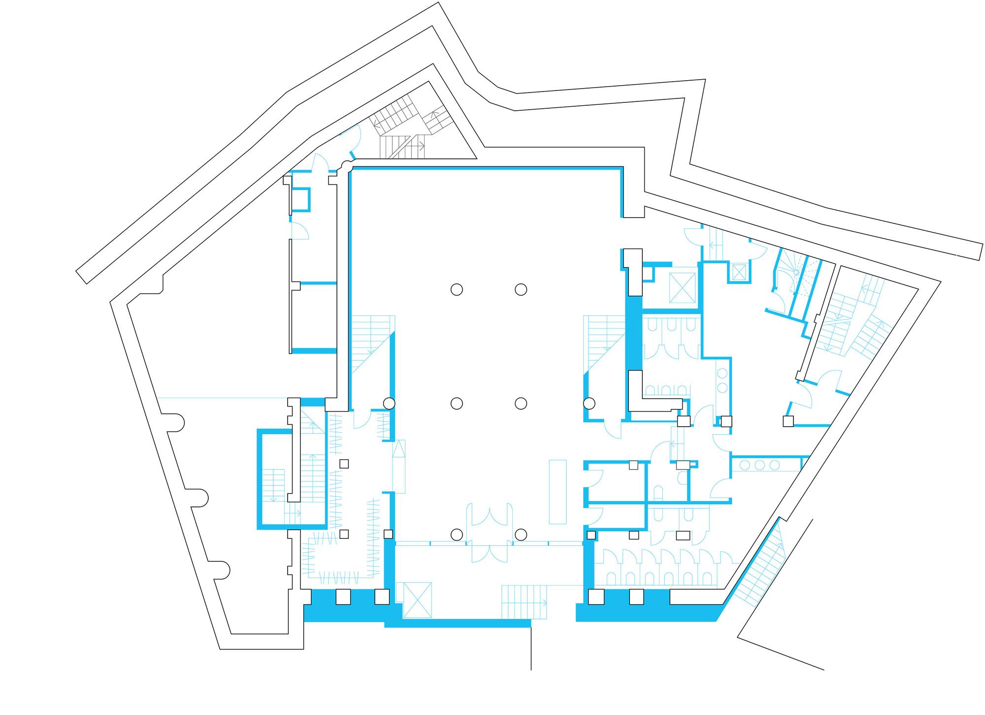 Plan De Foyer Universitaire : Galeria de teart na podole drozdov partners