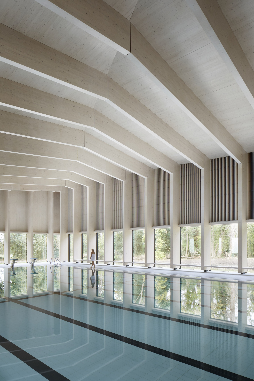 Gallery of freemen s school swimming pool hawkinsbrown 6 for Pool design center