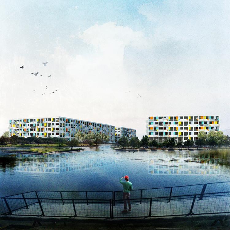 CC+RR gana concurso de proyecto residencial de integración social en la Ciudad Parque Bicentenario en Chile, Cortesía de CC+RR