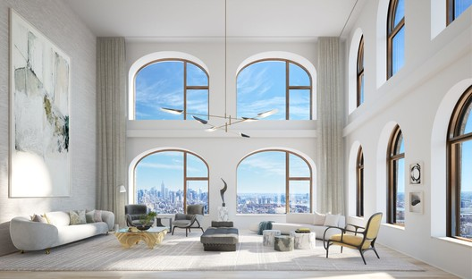 Double height living room interior. Image Courtesy of Lightstone