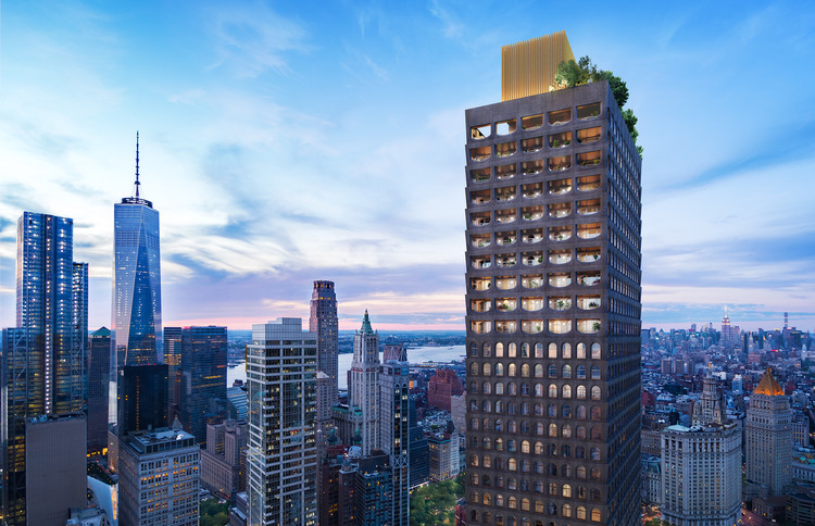 New Renderings Reveal the Design of Adjaye's First New York Residential Tower, Exterior. Image Courtesy of Lightstone