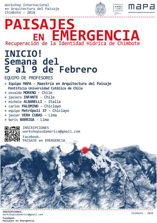 Workshop. PAISAJES EN EMERGENCIA. Recuperación de la Identidad Hídrica de Chimbote, Equipo PAISAJES EN EMERGENCIA. Chile
