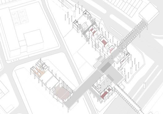 Axonometría: segundo piso. Image Cortesía de Alicia Bello Durán
