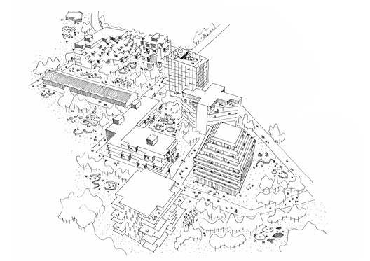 Site sketch. Image © Reiulf Ramstad Arkitekter